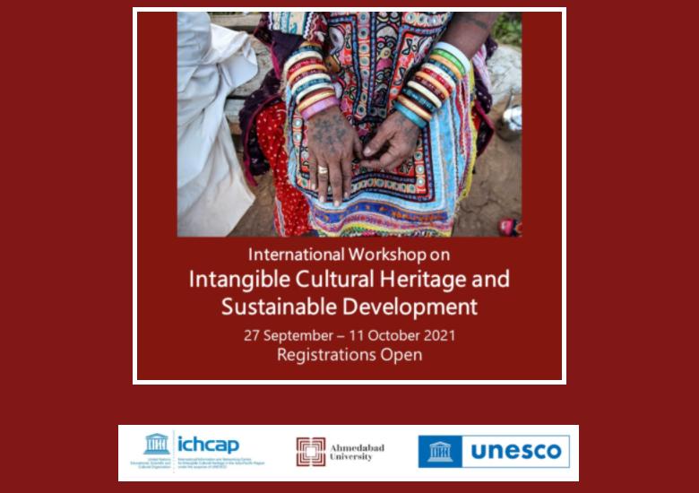 2021 Intangible Cultural Heritage Online Workshop-Intangible Cultural Heritage and Sustainable Development(27 September ~ 11 October 2021, Online)
