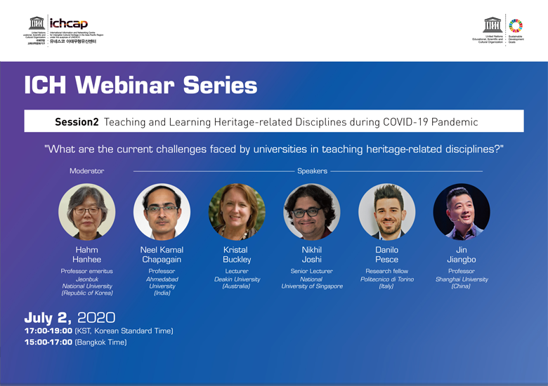 Session II of ICH Webinar Series to Tackle the Teaching of Heritage Amidst the Pandemic